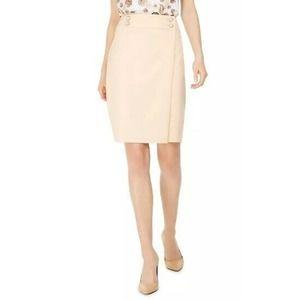 Calvin Klein Faux-Pearl Straight Pencil Skirt 14P